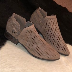 Taupe Detailed Booties